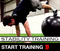 Stability Ball Pike Push Up