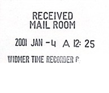 Widmer T-3 Time Stamp Sample Impression