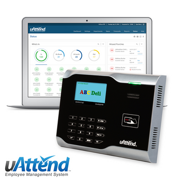 uAttend CB6000 Proximity Badge & Pin Entry Time Clock