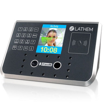Lathem FR700 Facial Recognition Time Clock with Badge Reader for Payclock Online