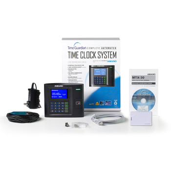 Amano Time Guardian Software and MTX-30 Proximity Time Clock