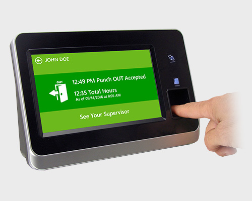 Fingerprint Time Clocks for QuickBooks
