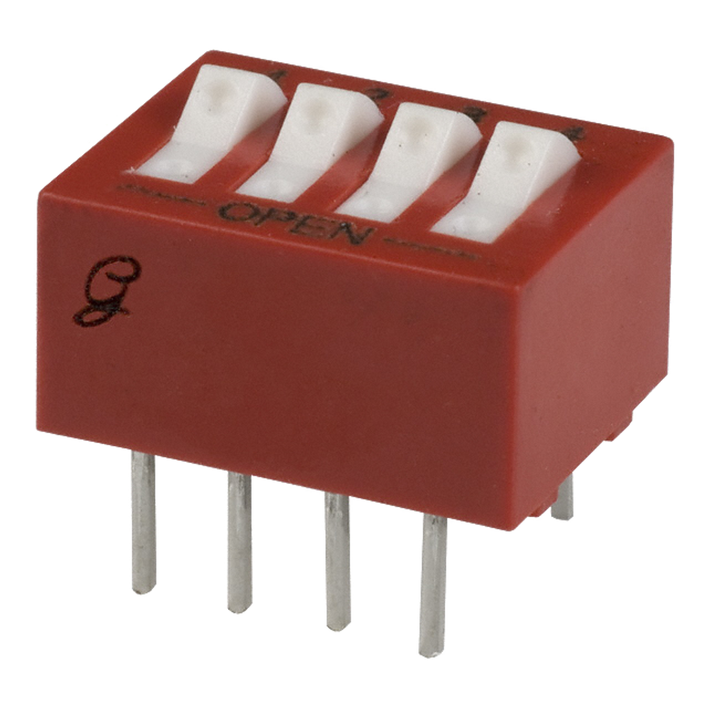 4 Position DIP Switch.