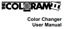 User's manual for Coloram II.