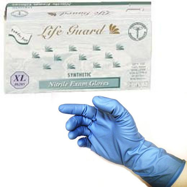 Powder-Free Thick Nitrile Exam Gloves: 500 X-LARGE