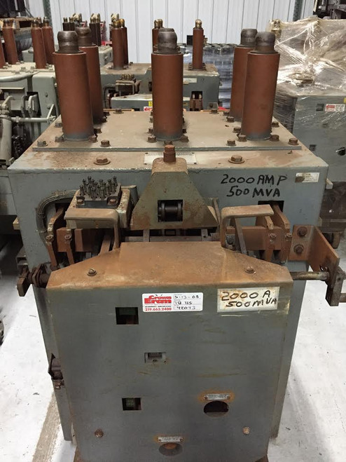 AM-13.8-500-5H-B GE Magne-Blast 2000A 15KV Air Circuit Breaker