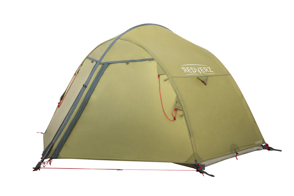 Redverz Hawk II Mountaineering Tent.  4 season, 2 person, freestanding tent in green.
