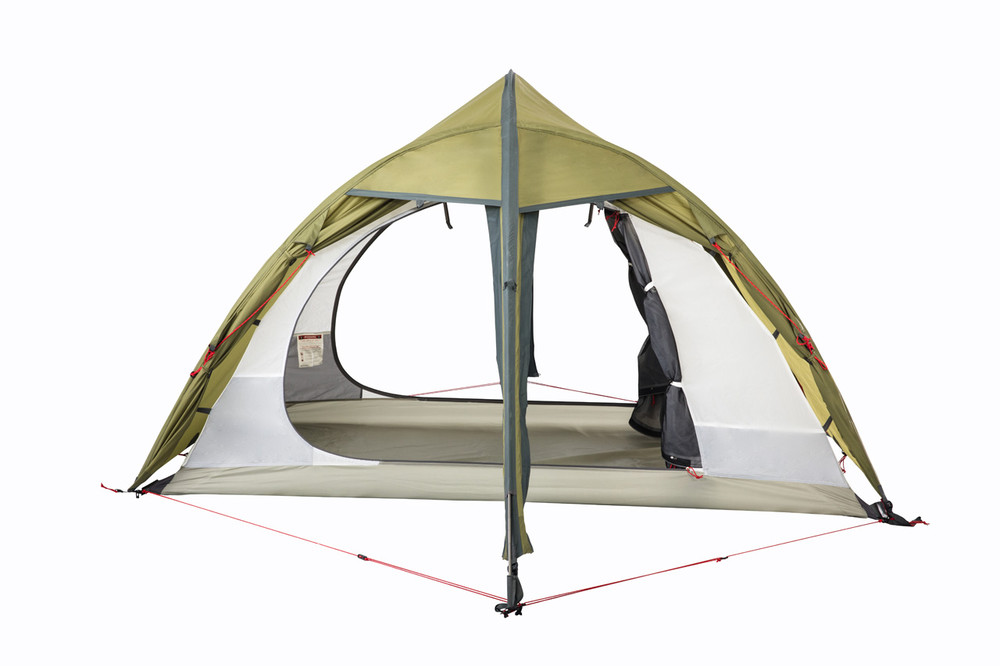 Redverz Hawk II Mountaineering Tent, 2 person, 4 season, 4 doors offer optimal ventilation.