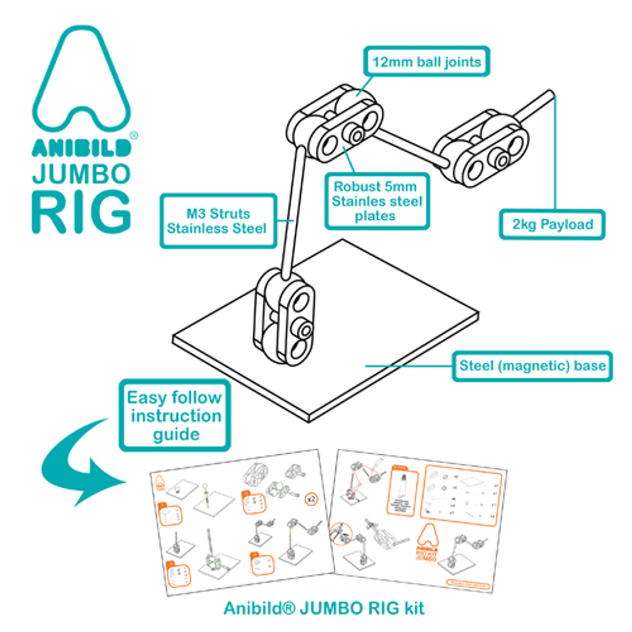 Anibild® JUMBO 12mm jointed rig