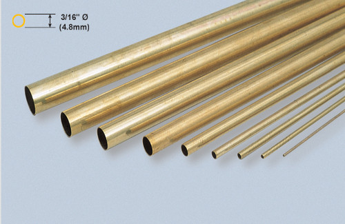 "K&S 129 Brass 3/16"" Round brass tube"