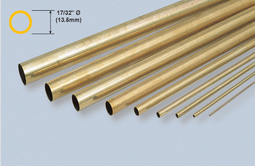 "K&S 140 Brass 17/32"" Round tube"