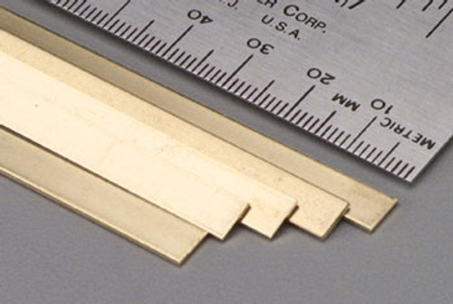 "K&S 232 0.16"" x 1"" Brass Strip"