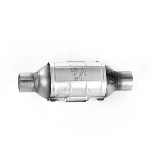 API 760024 | 2  in. round Body |  Universal California OBDII Catalytic Converter
