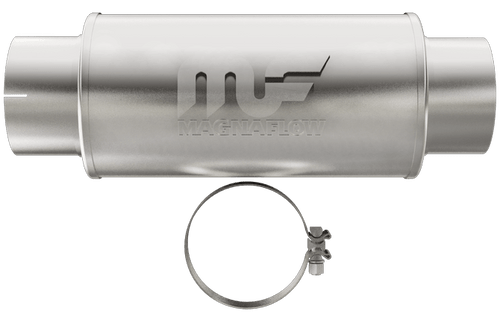 """Magnaflow 12775_Satin Stainless Muffler,4"""" inlet/outlet, 4"""" Core"""