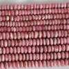 High Quality Grade A Natural Rhodochrosite (pink) Semi-Precious Gemstone Rondelle / Spacer Beads - 6mm, 8mm sizes