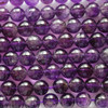 High Quality Grade A Natural Amethyst Semi-Precious Gemstone Round Beads - 4mm, 6mm, 8mm, 10mm 12mm