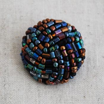 Hand Beaded Button - 2.2cm