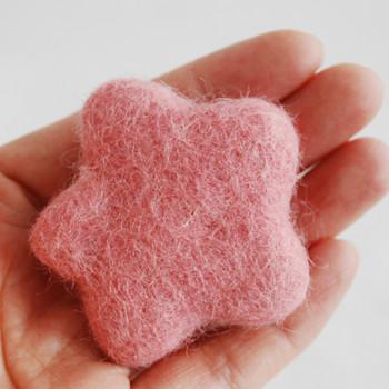 100% Wool Felt Flower - 5cm - Dusty Rose Pink