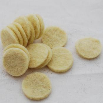 100% Wool Felt Die Cut Circles - 3cm - 10 Count - Cream