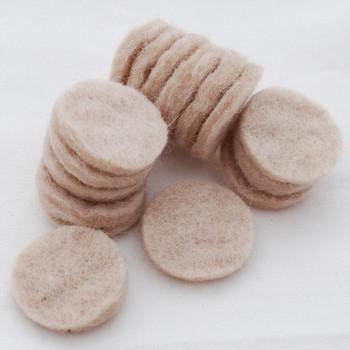 100% Wool Felt Die Cut Circles - 3cm - 10 Count - Light Latte
