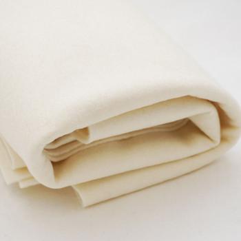 100% Wool Felt Fabric - Approx 1mm Thick - Light Cream - 40cm x 50cm