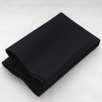 100% Wool Felt Fabric - Approx 1mm Thick - Black - 40cm x 50cm