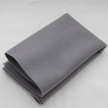 100% Wool Felt Fabric - Approx 1mm Thick - Battleship Grey - 40cm x 50cm