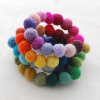 100% Wool Felt Balls - 60 Count - 60 Colours - 1cm