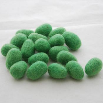 100% Wool Felt Egg - 10 Count - Green Flash
