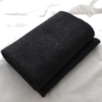100% Wool Felt Fabric - Approx 1mm Thick - Black Mix - 45cm x 50cm