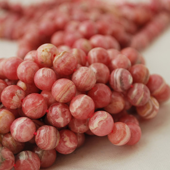 High Quality Grade A Natural Pink Rhodochrosite Semi-precious Gemstone Round Beads 4mm 6mm, 8mm, 10mm