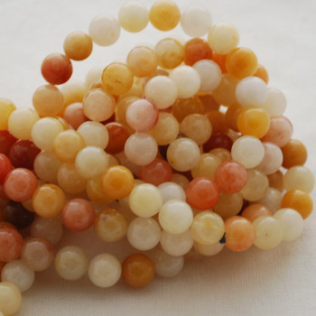High Quality Grade A Natural Golden Jade Gemstone Round Beads 4mm, 6mm, 8mm, 10mm sizes