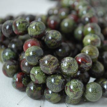 High Quality Grade A Natural Dragons Blood Jasper Gemstone Round Beads 4mm, 6mm, 8mm, 10mm sizes