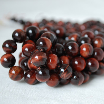 High Quality Grade A Natural Red Tiger's Eye Gemstone Round Beads 4mm, 6mm, 8mm, 10mm sizes