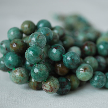 High Quality Grade A Natural Australian Bloodstone Gemstone Round Beads 4mm, 6mm, 8mm, 10mm sizes