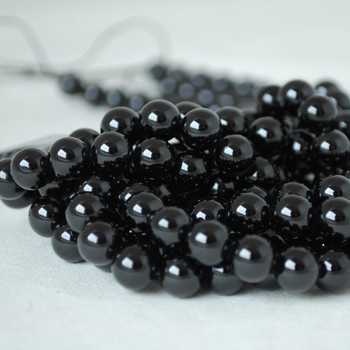 High Quality Grade A Natural Black Spinel Gemstone Round Beads 4mm, 6mm, 8mm, 10mm sizes