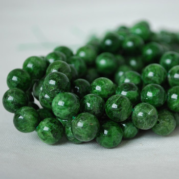 High Quality Grade A Natural Russian Green Chrome Diopside Gemstone Round Beads 4mm, 6mm, 8mm, 10mm sizes