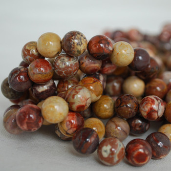 High Quality Grade A Natural Birdseye Rhyolite Gemstone Round Beads 4mm, 6mm, 8mm, 10mm sizes