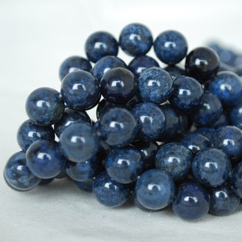 High Quality Grade AB Natural Dumortierite Gemstone Round Beads 4mm, 6mm, 8mm, 10mm sizes