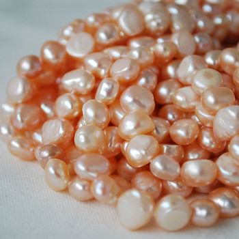 """16"""" Strand Natural Freshwater Pearl Beads Nuggets Pink 7 - 9mm Grade A"""
