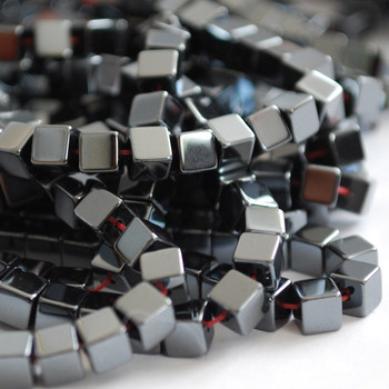 Quality Hematite Cube Beads 4 x 4mm - Non Magnetic