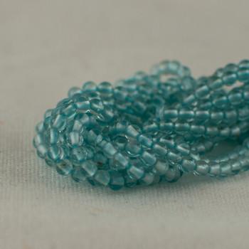 "High Quality Grade AA Natural Apatite (aqua blue) Semi-Precious Gemstone Round Beads - 2mm - 15.5"" long"
