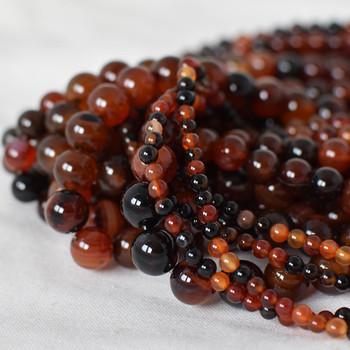 High Quality Grade A Madagascar Agate Semi-precious Gemstone Round Beads - 4mm, 6mm, 8mm, 10mm sizes