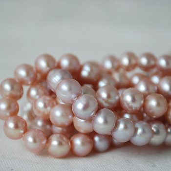 "15"" Strand Natural Freshwater Pearl Beads Round / Potato Purple 5mm  7mm, 9mm Grade B"