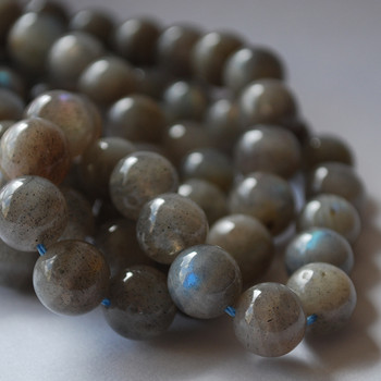 High Quality Grade A Natural Labradorite Semi-Precious Gemstone Round Beads - 4mm, 6mm, 8mm, 10mm,12mm