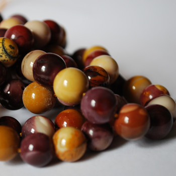 High Quality Grade A Natural Mookite / Mookaite  Semi-Precious Gemstone Round Beads - 4mm, 6mm, 8mm, 10mm