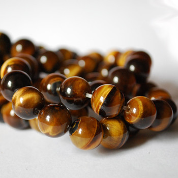 High Quality Grade A Natural Tiger's Tiger Eye Semi-precious Gemstone Round Beads - 4mm, 6mm, 8mm, 10mm