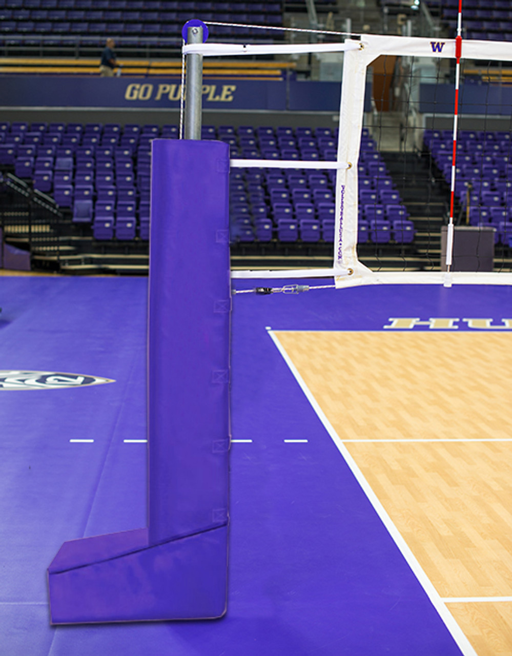 Indoor Volleyball System - Aluminum Systems - T-Base Dual Anchor ...