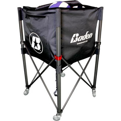 Baden Perfection Deep Basket Volleyball Cart  - Black