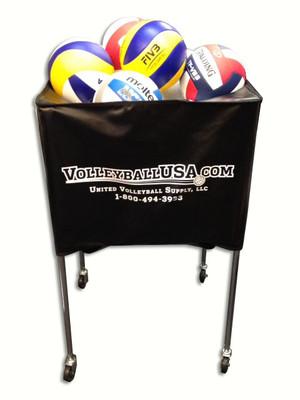 VolleyballUSA.com Deep Basket Style Ball Cart